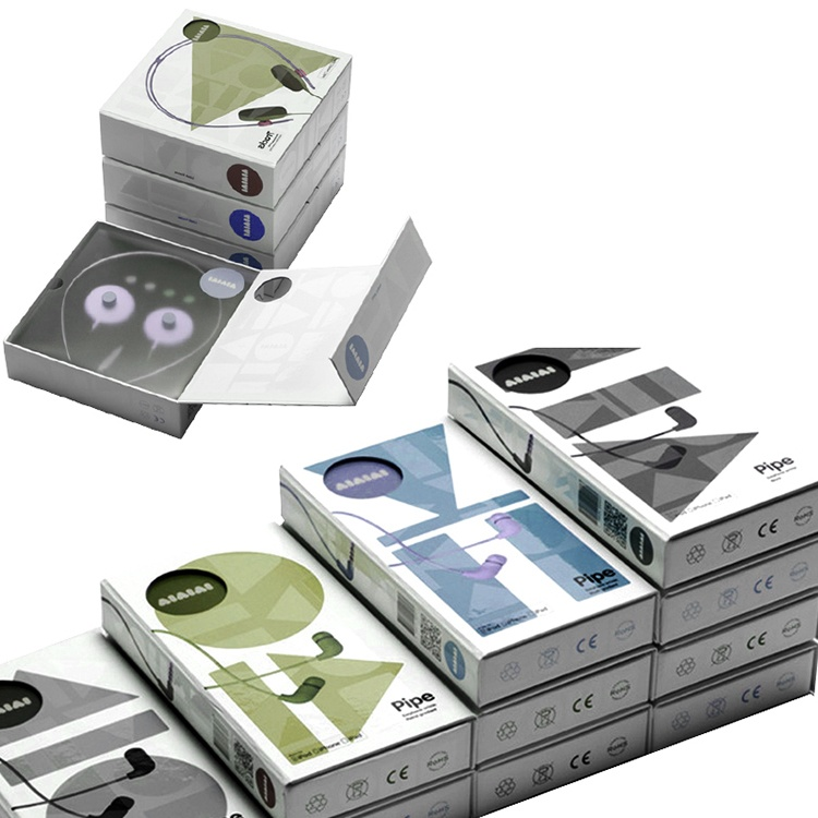 Paper gift electronics products earphone packaging box
